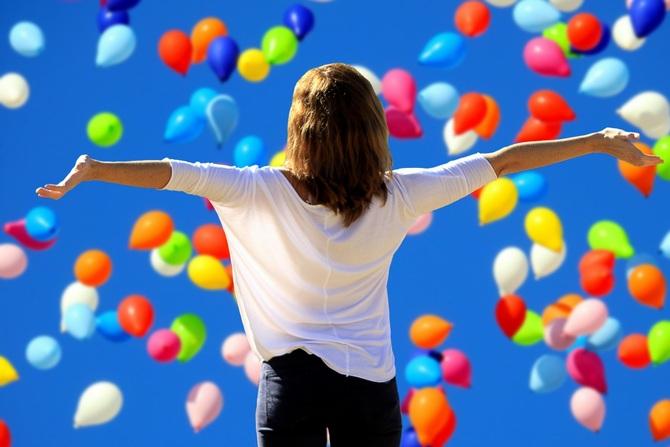 Девушка и воздушные шары