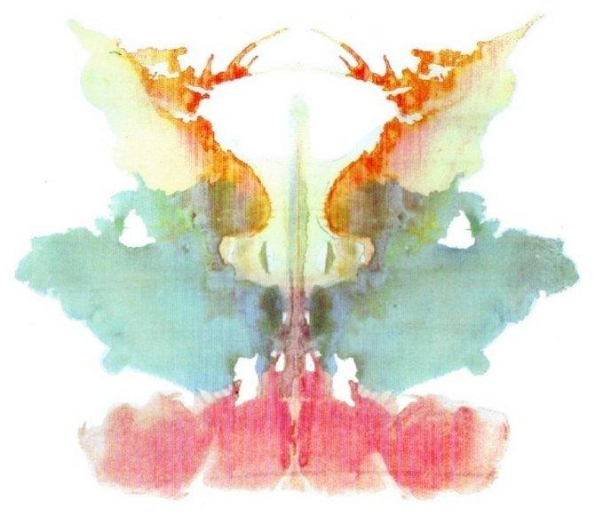 Картинка для цветового теста Роршаха