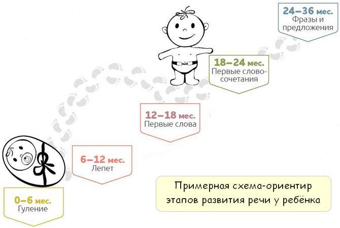 Развитие речи ребёнка в зависимости от возраста